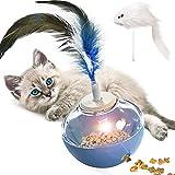 Juguete Gato Interactivo,Juguetes para Gatos Interactivos,Pelota Dispensadora de Comida para Gatos,Dispensador de Comida con Vaso Giratorio para Ejercicio Animal Doméstico Gatos