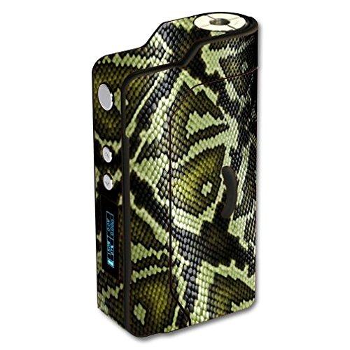 Sigelei 150W Temp Control Vape E-Cig Mod Box Vinyl DECAL STICKER Skin Wrap / Green Snake Skin