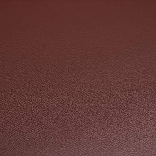 Relaxdays Sitzbank mit Stauraum, 40 L, gepolstert, Holzbeine, Truhenbank Kunstleder, HxBxT: 40 x 80 x 39,5 cm, braun, Größe - 4