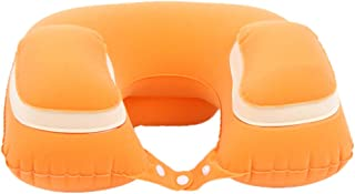 Travel Pillows Inflatable U-Pillow Plane Travel Pillow Neck Pillow Neck Sleep Pillow to Blow Portable Foldable (Color : Yellow, Size : 40 * 28cm)
