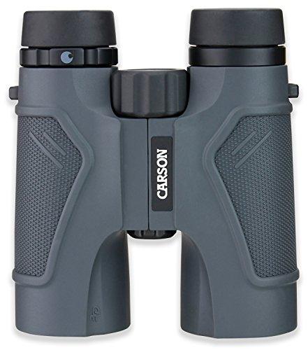 Carson 8x42 HD-verrekijker uit de 3D-serie, 842 Verrekijker, Grijs, 8x42mm