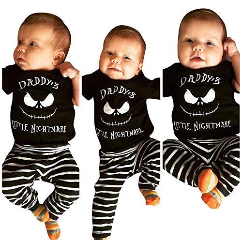 Halloween Kostüme Baby,Bat Strampler Langarm Jumpsuit Neugeborenes Sets Blattmuster Strampelanzug Overall Outfits Motiv Baby Body Unisex Jungen Halloweenkostüm Baumwolle Kleidung Hosen Set