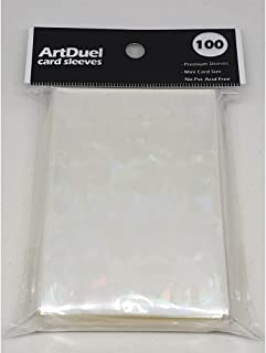 ArtDuel Yugioh Card Sleeves Deck Protector Mini Size Shield - Diamond Effect Holographic Clear