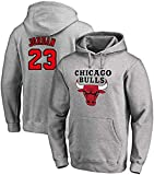 GIHI Sudadera con Capucha De Baloncesto Masculino, Chicago Bulls De Michael Jordan # 23 Jersey Sudadera con...
