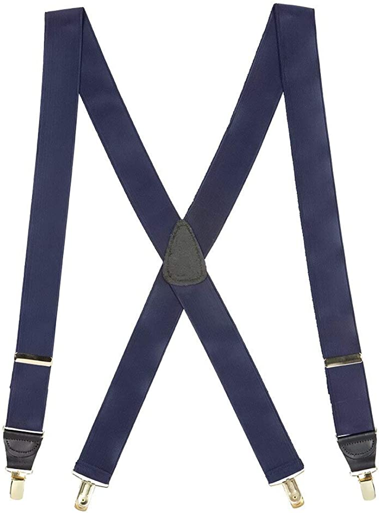SuspenderStore Men's French Satin Dressy Clip-End Suspenders (3 Sizes, 6 Colors)