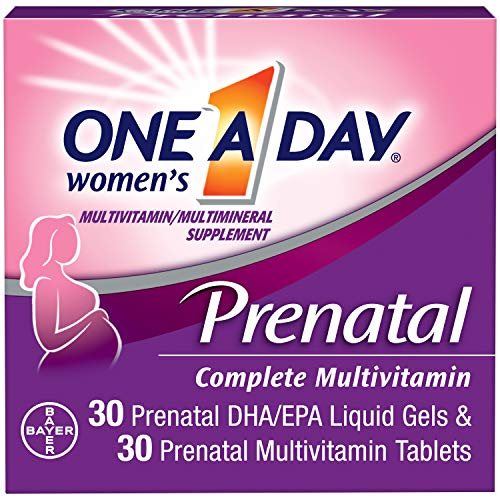 One A Day Women's Prenatal Multivitamins Two Pill Formula, 30+30 Count