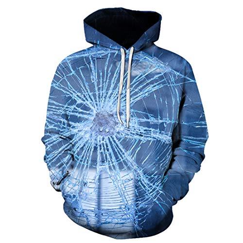 DOLAA Unisex 3D Hoodie Sweatshirt Gedruckter Kordelzug Pullover HD 3D Print Leichte Sweatshirts Taschen Lustiger 3D Bunter Hoody Full Size Sweatshirts Langarm Pullover Pullover mit Kanga Tasche
