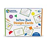 Learning Resources Pattern Block Design Cards, Color Recognition, STEM Toy, Ages 4+