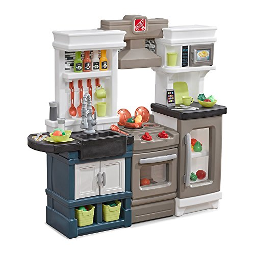 Step2 Modern Metro Kitchen | Modern Play Kitchen & Toy Accessories Set | Kids...