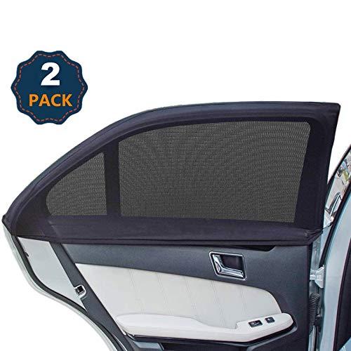 Universal Car Window Shades, Side Window Shade for Car, Breathable Mesh Baby Car Rear Window Sunshades - 2 Pack (M CAR)