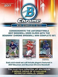 2017 Bowman Chrome Baseball Mini Hobby Factory Set - 300+ cards