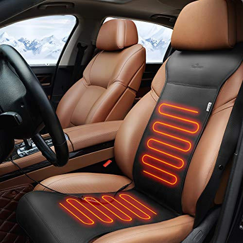 KINGLETING Heated Seat Cushion with Intelligent Temperature Controller.(Black)