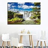 GUDOJK Wandgemälde Dekoratives Plakat Iguazu Falls Natur