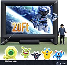 20FT Inflatable Mega Movie Screen Outdoor - Front and Rear Projection - Portable Blow Up Projector Screen for Grand Parties, Easy to Set Up (with A 350W Blower in One Box)