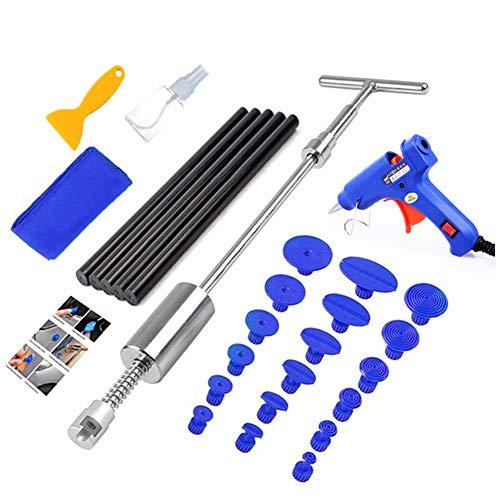 Auto Dent Entfernung Werkzeug Set,Auto Dent Reparatur Puller,Saugnapf T Typ Zughammer,Fast Care Auto Vehicle Tool