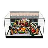 light your bricks Acrylic Display Case Box for Lego Ideas The Friends Central Perk 21319 Building Blocks Model Set, Dust-Proof Transparent Clear Display Box Showcase (The Model NOT Included)