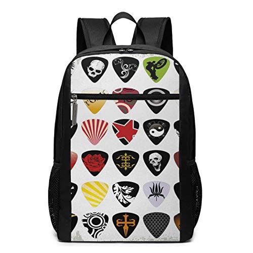 OMNVEQ Mochila Escolares Música Rock 838, Mochila Tipo Casual para Niñas Niños Hombre Mujer Mochila para Ordenador Portátil Viaje