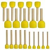 SODIAL 20 PZ Set di pennelli rotondi per spugne Strumenti per dipingere per bambini - Set di strumenti per dipingere strumenti di spugna in 4 formati per bambini