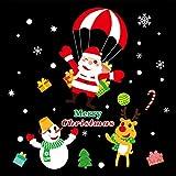 Pegatinas de pared y imágenes de pared, decoración navideña, paisaje, arreglo de escaparates, puerta de cristal, pegatinas de árbol de Navidad, corona antigua, pegatinas