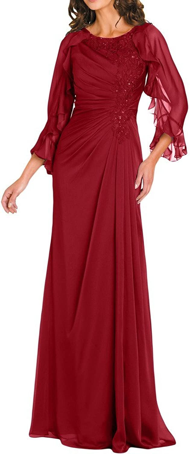 Angel Bride Graceful Mother of the Bride Evening Dress with 3 4 Sleeves