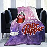 Dr Pepper Throw Blanket for Couch Cozy Lightweight Bed Blankets Super Soft Perfect for Child Adults Outdoor Travel Warm Quilt 50'x40'