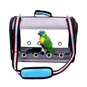 Lolly-U Cage de transport pour oiseaux avec perche, ventilation pliable et pare-soleil pour chien
