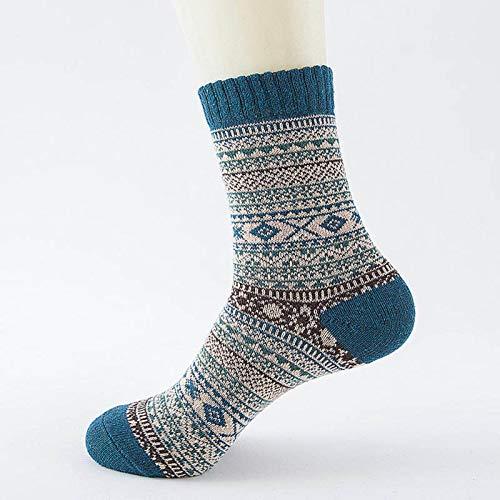 N-B Calcetines de Lana de Rayas cálidas Gruesas de Invierno Calcetines Casuales de Negocios para Hombre