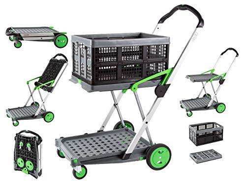 Claxmobil Trolley, Einkaufswagen, klappbar, Kommissionierwagen, Postumlaufwagen
