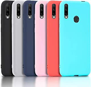 Oududianzi – 6X Carcasa para Honor 9X, Funda Flexible de Silicona de Poliuretano termoplástico, Color Negro, Blanco translúcido, Rojo, Rosa, Verde Menta y Azul Claro