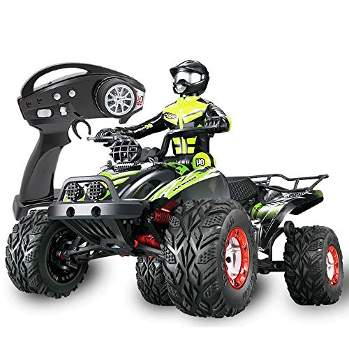 Lotees Camiones todoterreno RC RC Beach Motorcycle 1/12 4WD RC Electric Racing Car Off Road High Speed Rtr Monster Truck Dune Buggy 4 Rueda Suspensión independiente 2.4GHz Recargable for Adultos Toy