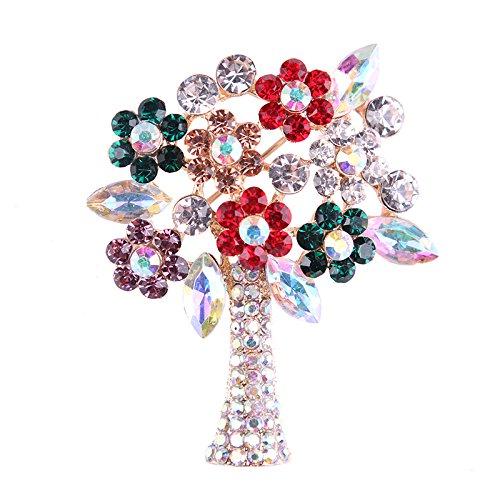Kanggest Broche para Mujer Creativa Forma de árbol de Navidad diamante Broche...