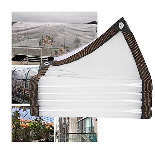 AOTNZ Telone Occhiellato Trasparente, Impermeabile Antipioggia Gazebo Plastica Lastre per Tetti, All'aperto Le Tende, Tendina Parasole, Giardino Tende, Personalizzabile,Clear,3X3M
