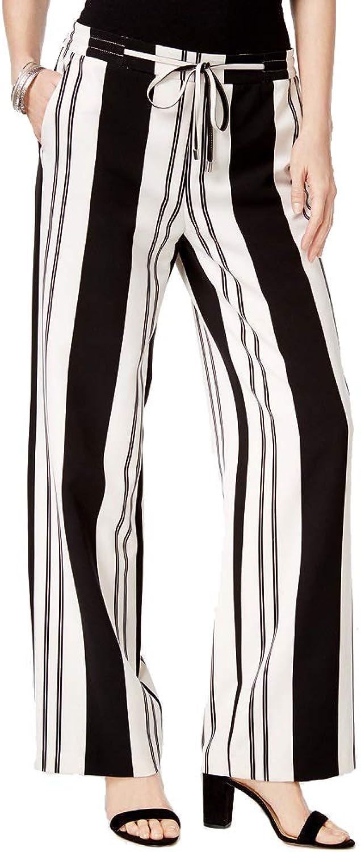 I.N.C. International Concepts Women`s Petite Striped WideLeg Pants