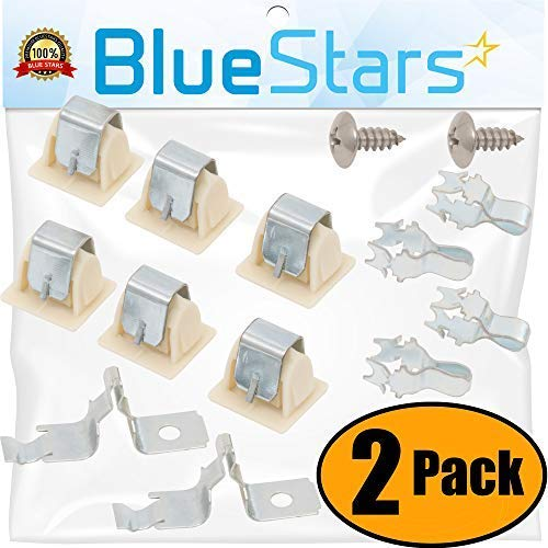 Blue Stars 279570 - Kit de pestillo para puerta de secadora, repuesto para secadora Whirlpool Kenmore Maytag – Reemplaza 236877 420198 423232 279337 3392538 (2 unidades)