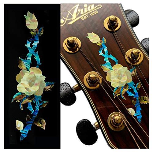 Pegatinas para cabeza de guitarra - Rose Vine H-118RV-WT