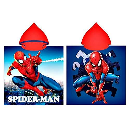 GUIZMAX Compatible avec Poncho de Bain Capuche Spiderman Cape pour Enfant
