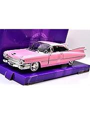"JADA TOYS 1:24SCALE ""BIGTIME KUSTOMS"" "" 1959 CADILLAC COUPE DEVILLE (PINK)"" ジェイダトイズ 1:24スケール 「ビッグタイムカスタム」 「ビッグタイムカスタムズ - 1959 キャデラック クーペデビル (ピンク)」"