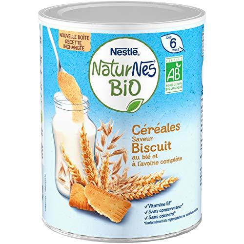 NESTLE Bébé NATURNES BIO Céréales Biscuité - Boîte 240g - Dès 6 mois