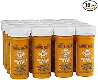 Cold Pressed Juice Shots - Pineapple & Turmeric Juice - Organic Health & Wellness Blast - 2 Ounce Single Servings, 16 Count - By Pulp Story