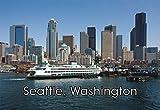 Seattle, Washington City Skyline, Ferry, WA,...