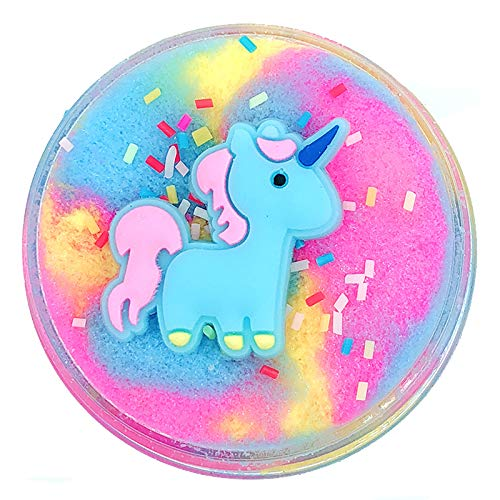 GoodGoodStudy--Unicorn Cloud Slime, Cotton Candy Slime Supplies Stress Relief Toy Scented Sludge Toy for Girls and Boys(120ml