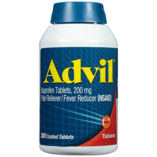 Advil Coated Tablets Pain Reliever and Fever Reducer, Ibuprofen 200mg, 300 Count, Fast-Acting...