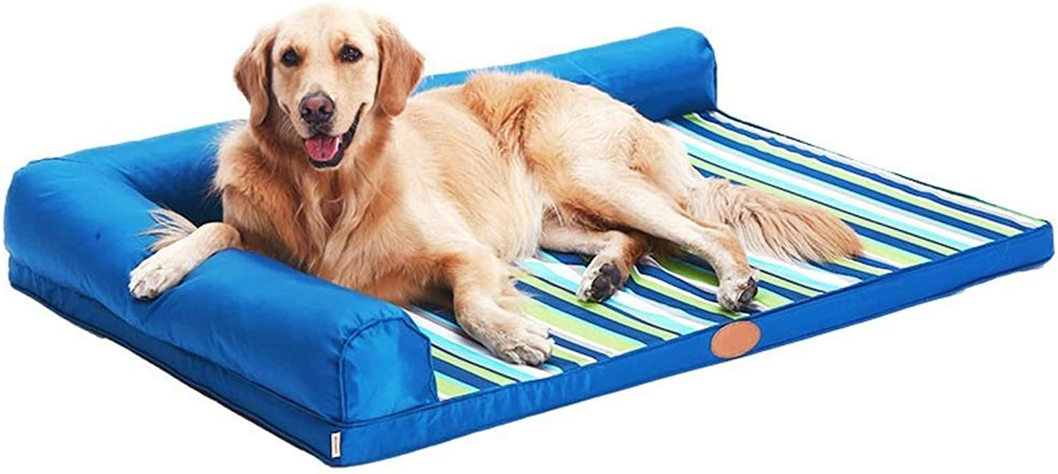 Alppq Oxford Cloth Pet Kennel Washable Small Medium And Large Dog Sofa Four Seasons Universal Dog Mat Mattress Rectangle Pet Bed Easy To Clean Comfort Fur Dog Bed Cushion Pet Bed (Size   XXL)