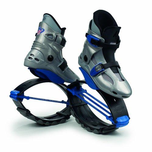KangooJumps Power - Botas Infantiles de Salto para Fitness Silver/Blue Talla:32-35