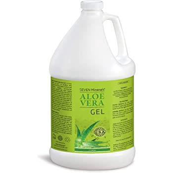 Organic Aloe Vera Gel - 1 Gallon - with 100% Pure Aloe From Freshly Cut Aloe Plant, Not Powder - No Xanthan, So It Absorbs Rapidly With No Sticky Residue (128 fl oz)