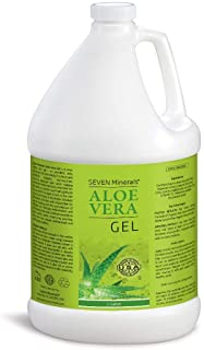 Organic Aloe Vera Gel - 1 Gallon - with 100% Pure Aloe From Freshly Cut Aloe Plant, Not Powder - No Xanthan...