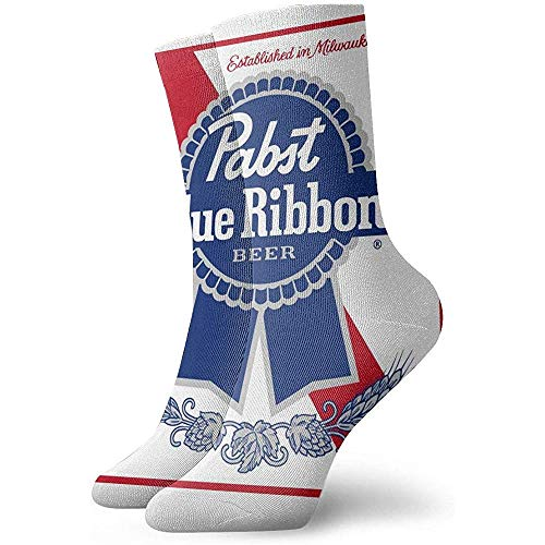 Gre Rry Frauen Pabst Blue Ribbon Bier Logo Boot Socks Feuchtigkeitsregelung Thermal Socks