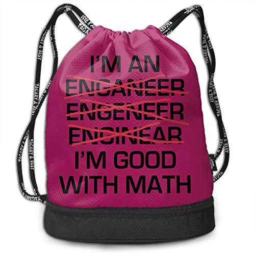MINISA I'm An Engineer I'm Good At Math Sarcastic トレッキング リュック バンドルバックパック 軽量 カジュアル 登山 旅行 遠足 アウトドア キャンプ 子供 通勤 通学 プレゼント 大容量 男女兼用