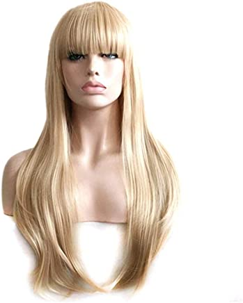 Hair Extensions & Wigs Synthetic Wigs Real Picture Woodfestival Cosplay Hair Wig Black Brown Long Straight Wig Bangs Synthetic Wigs Women Heat Resistant