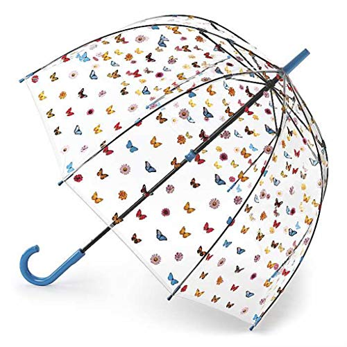 Fulton Regenschirm mit Vogelkäfig-Motiv, englischer Garten, Blau